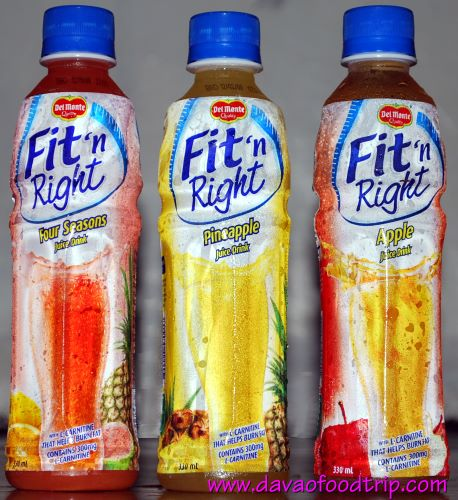WS: Del Monte Fit n Right juice drinks - Four Seasons, Pineapple and Apple