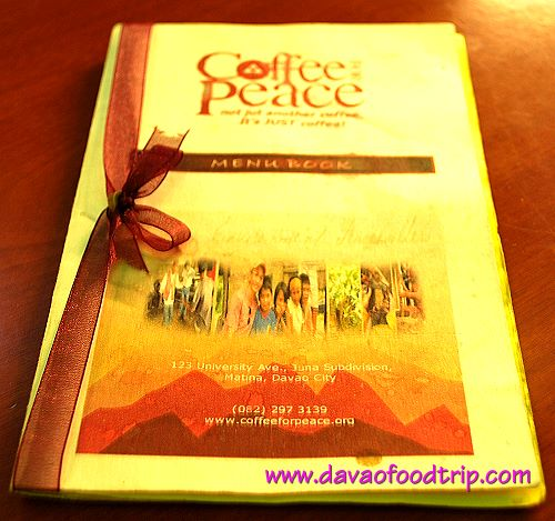 Coffee For Peace (Davao) Menu Book