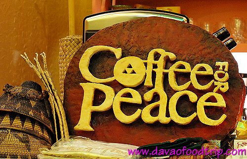 Coffee For Peace (Davao) signage