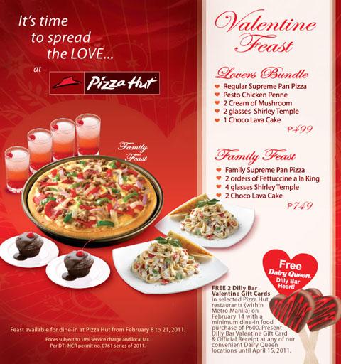 Pizza Hut Valentine Feast Valentines 2011 Promo Food