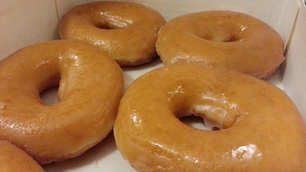 krispy kreme original glazed doughnuts davao