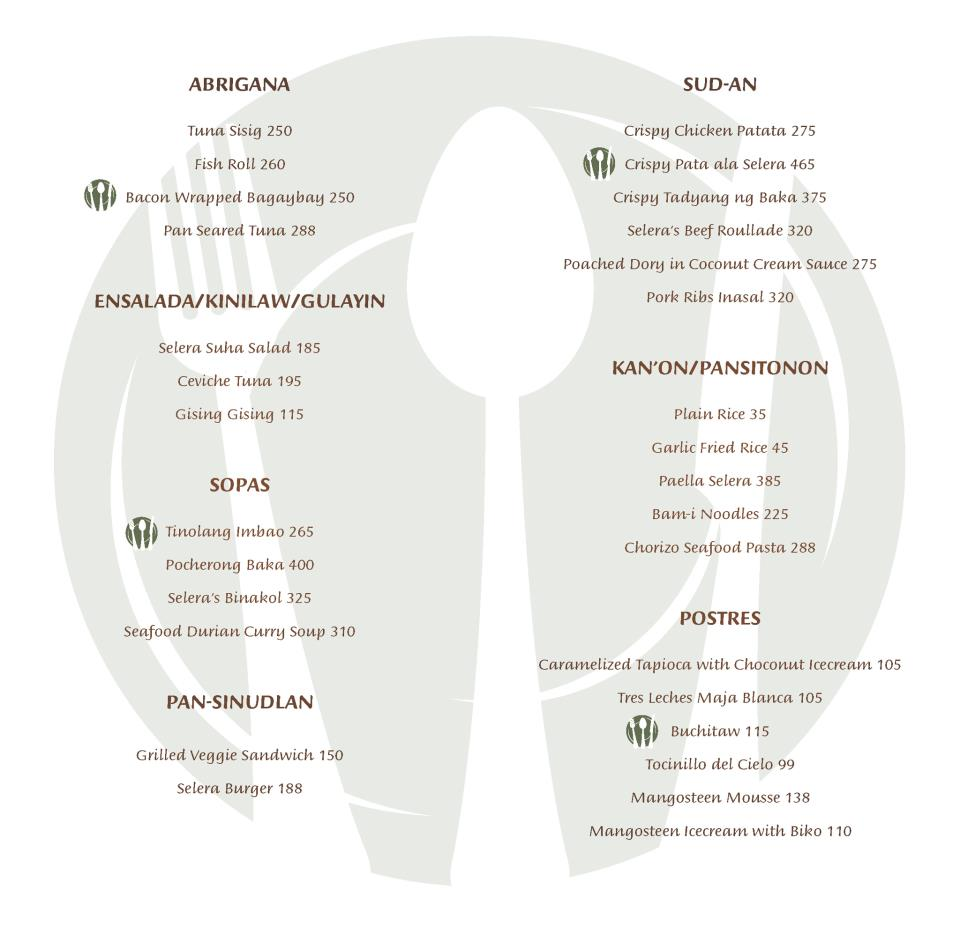 Bistro Selera menu SM Lanang Premier Davao