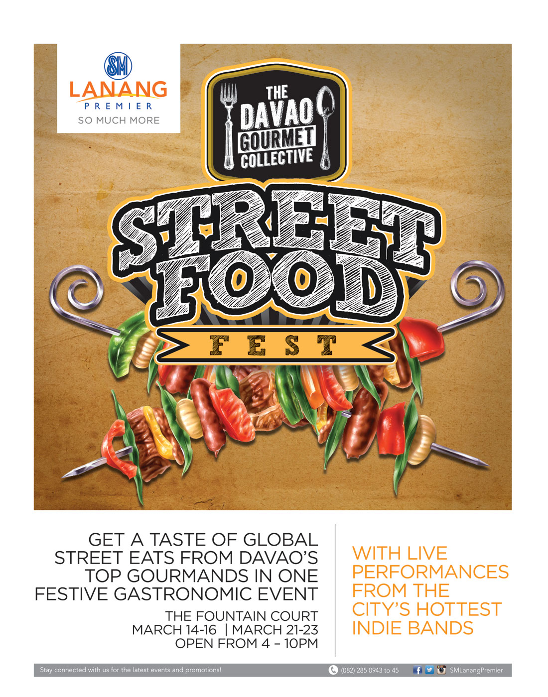 Street Food Fest March 2014 Davao Gourmet Collective SM Lanang Premier poster