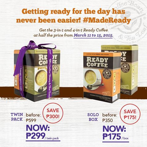 CBTL MadeReady coffee half price March11-15, 2015 - photo by DavaoFoodTrips.com