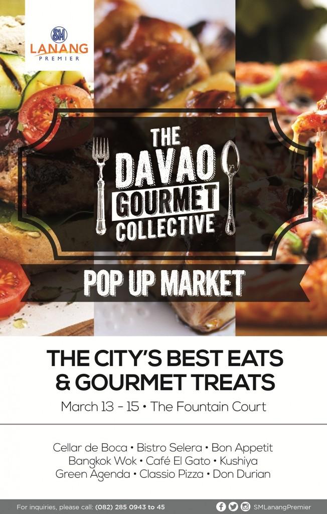Davao Gourmet Collective Pop Up Market Araw ng Davao 2015 SM Lanang Premier poster