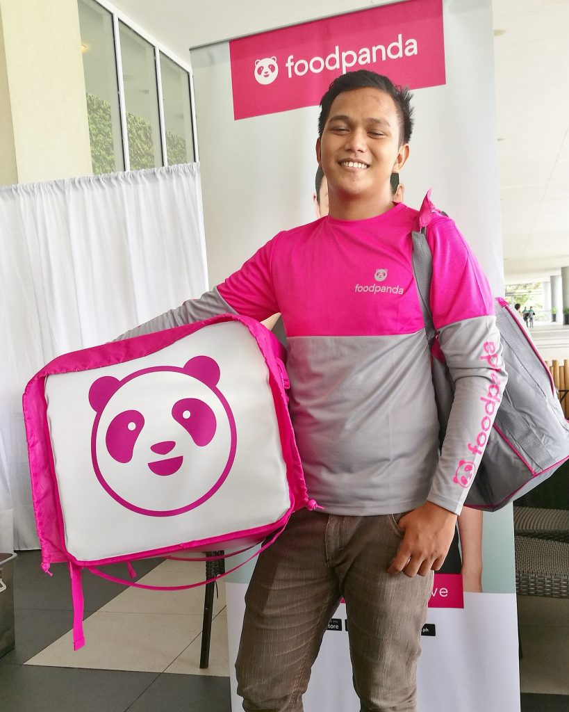 foodpanda in Davao City delivery guy in pink
